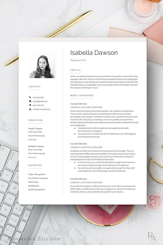 Modern Google docs resume for executives cv template for