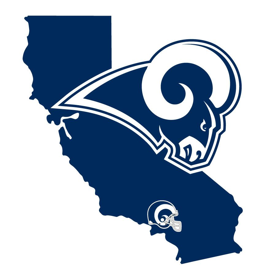 Los Angeles Rams Home State Decal In 2020 Los Angeles Rams Logo Los Angeles Rams Nfl Los Angeles
