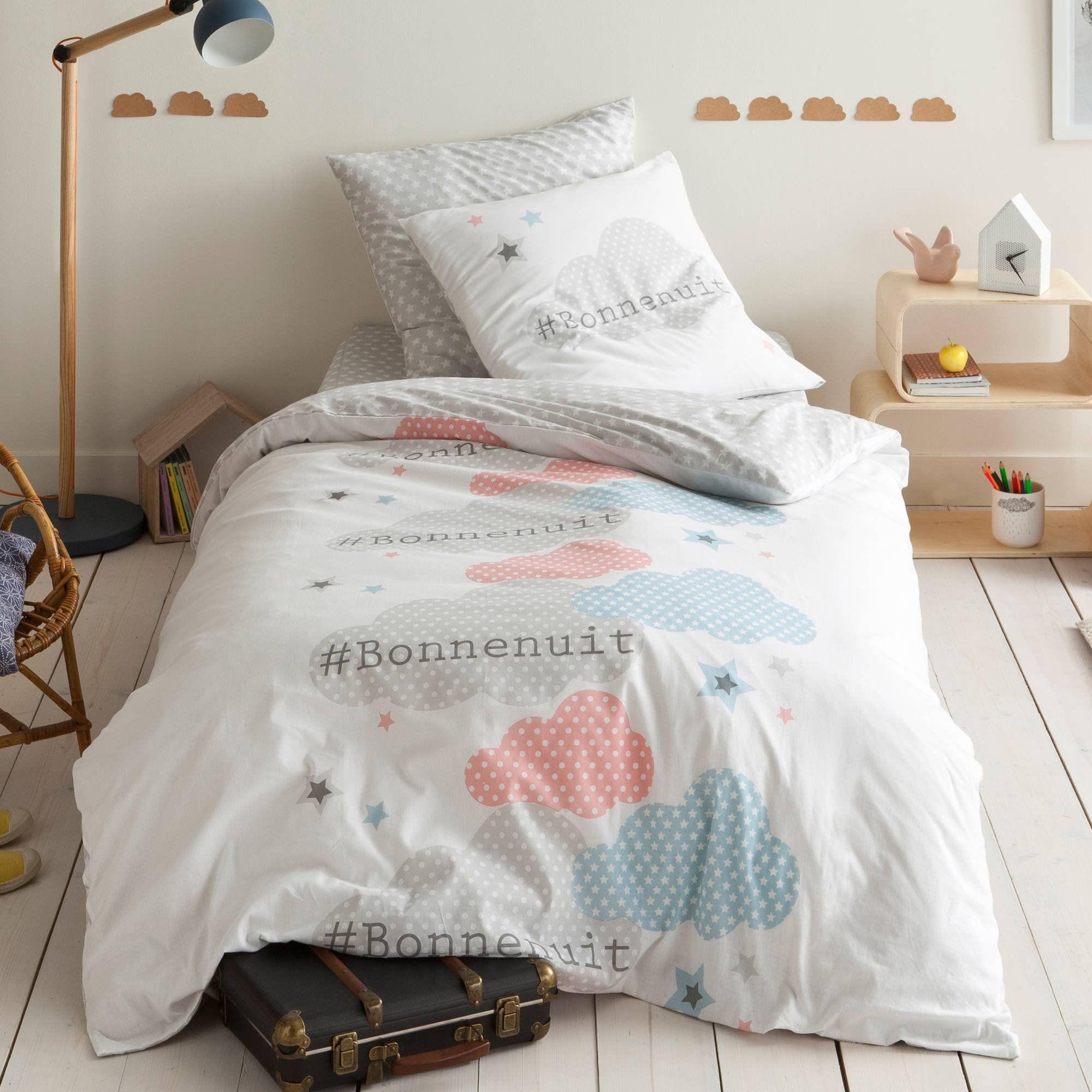 Super Housse de couette coton imprimé Bonne Nuit | Nuits étoilées, Linge  AV55