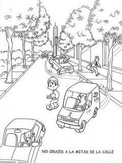 Dibujos Para Colorear De Educacion Vial Paperblog Educacion Vial Educacion Vial Para Ninos Seguridad Vial