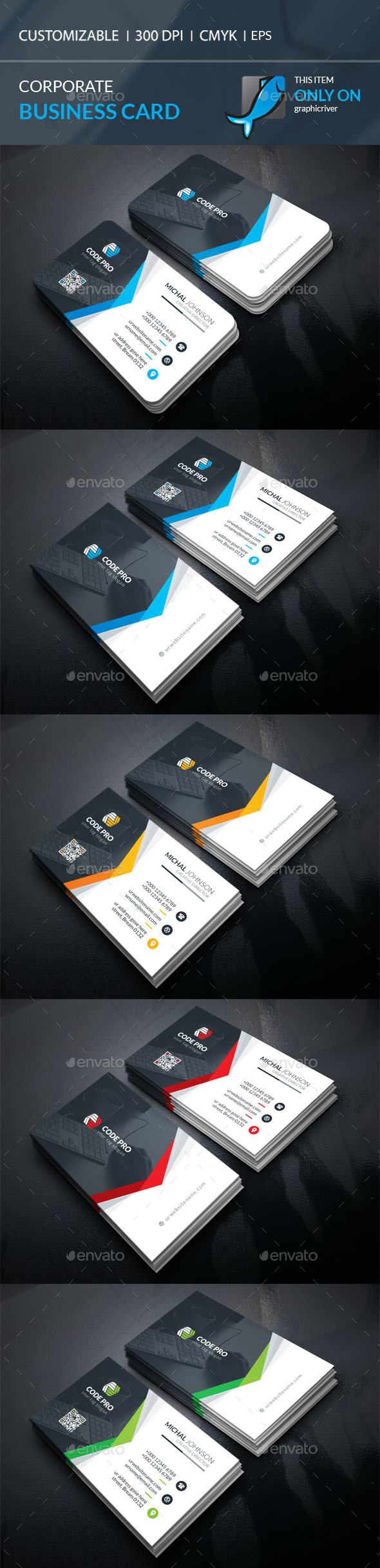 Corporate Business Card Template Vector EPS, AI Illustrator ...