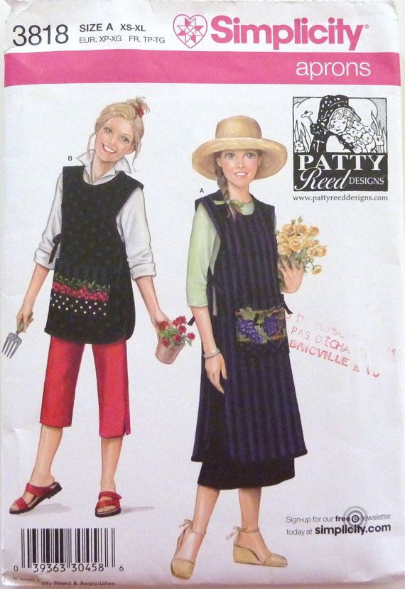 Simplicity 3818 Sewing Pattern  Aprons  Patty  Reed designs by vintagememory, $7.00