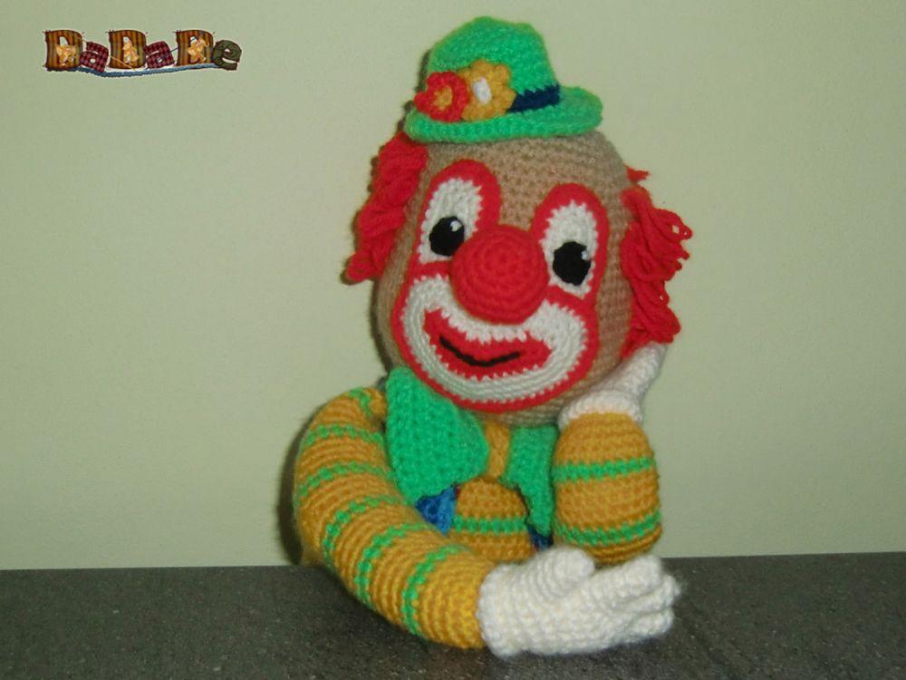 der Clown Bimbino, die Kuschel Puppe für Fasching - gehäkelt - MyPatterns