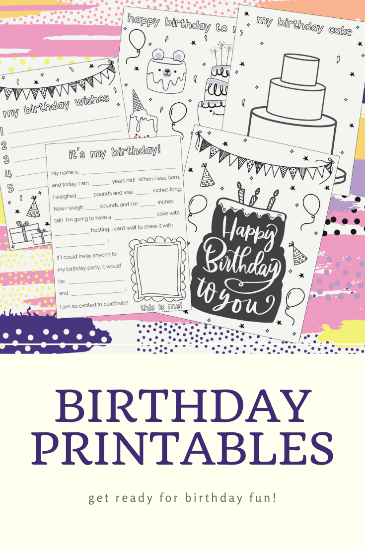 It S My Birthday Printables And Coloring Pages Etsy In 2020 Its My Birthday Birthday Printables My Birthday Cake