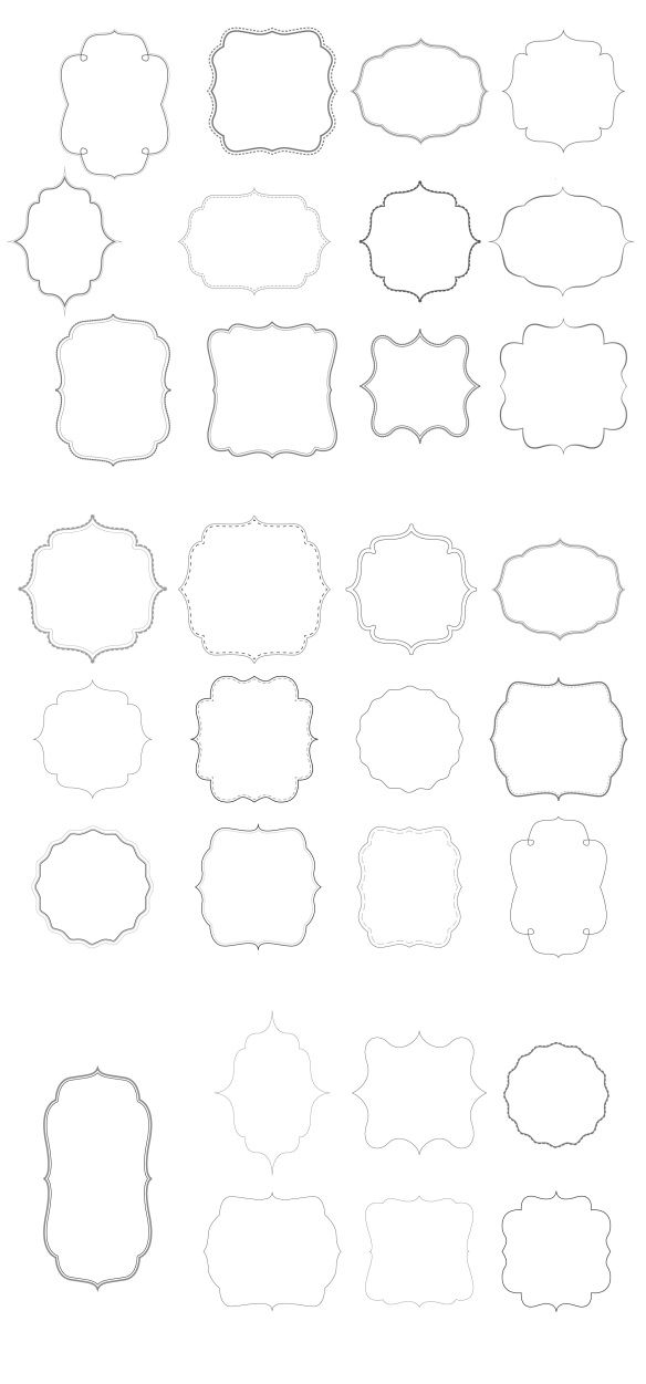 Free borders and bracket frames to download | Pure Sweet Joy ...