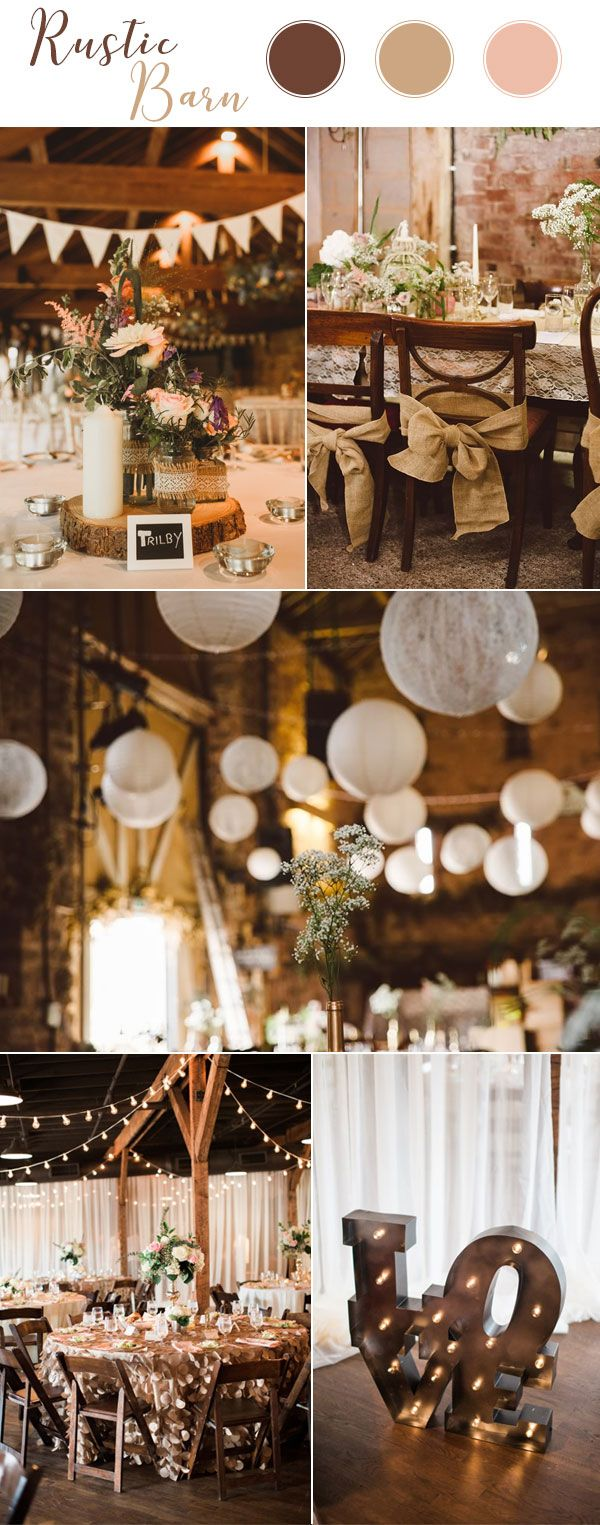 The hottest 6 wedding theme trends for 2018 rustic weddings rustic barn wedding themes 2018 junglespirit Images