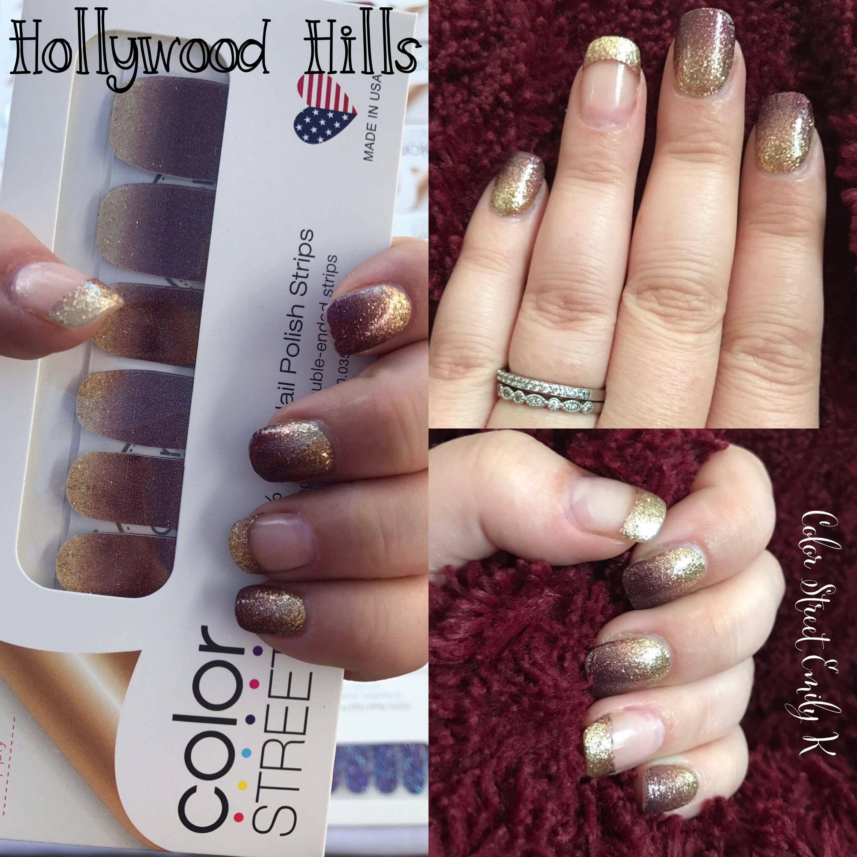 Color Street Fashion Nail Strips - Hollywood Hills. 100% Nail Polish ...