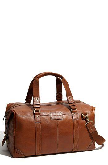 Tommy Bahama 'Weekender' Leather Duffel Bag $295 in cognac #mens
