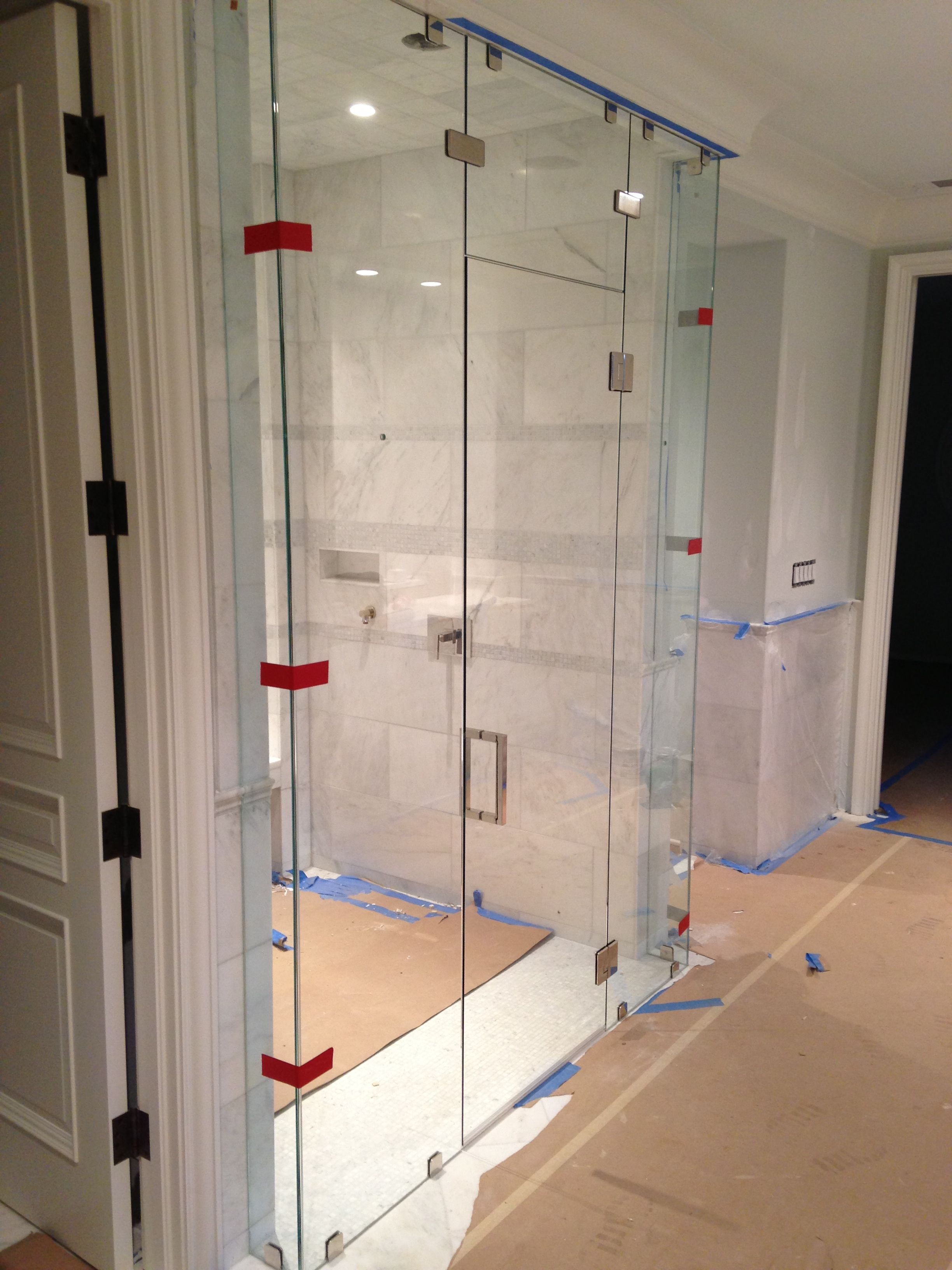 Frameless Shower In Master Bathroom West Paces Ferry Georgia