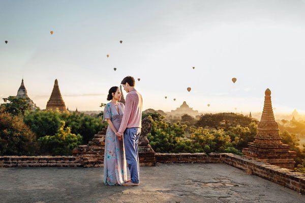 Indian Wedding Abroad International Destination Venues On A Budget Burma Pre Shoot By Ann Kathryn
