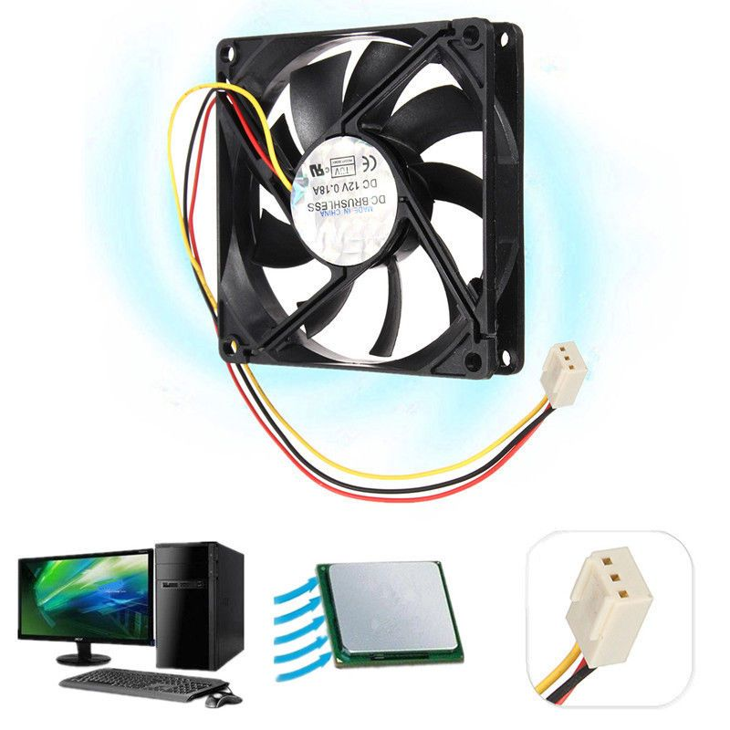 3 Lines Cooling Fan Dc 12v 3 Pin Plastic Universal Cooler Pc Case
