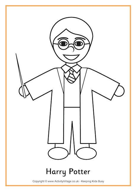 Harry Potter Colouring Page 2 Harry Potter Coloring Pages Harry