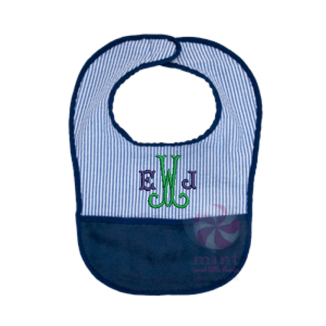 Seersucker Bib by Mint