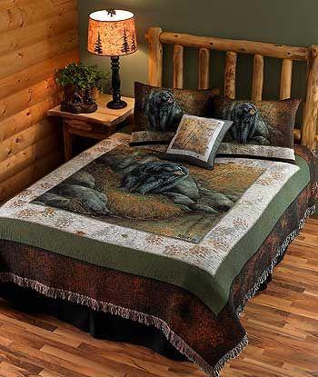 Black Bear Bedding Set By Rosemary Millette Bear Bed Bear Decor Bedding Set