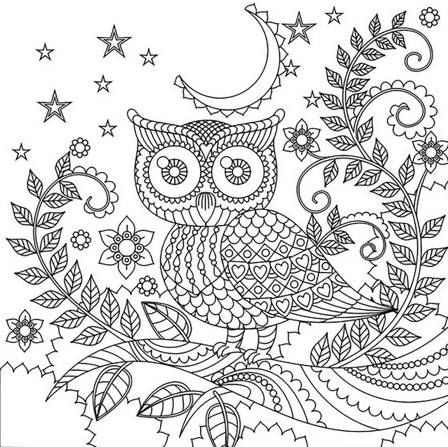 gecko galz freebie  owl coloring pages abstract coloring