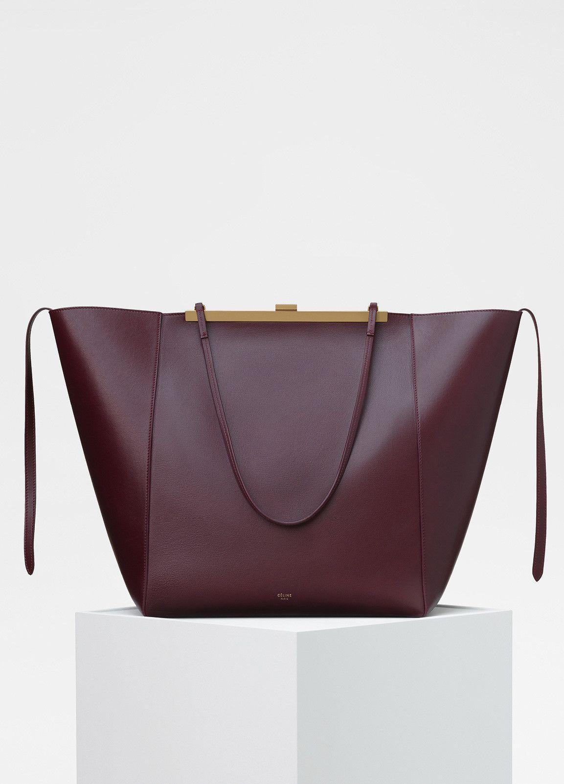 Cabas Clasp Bag in Smooth Calfskin - Céline | The \