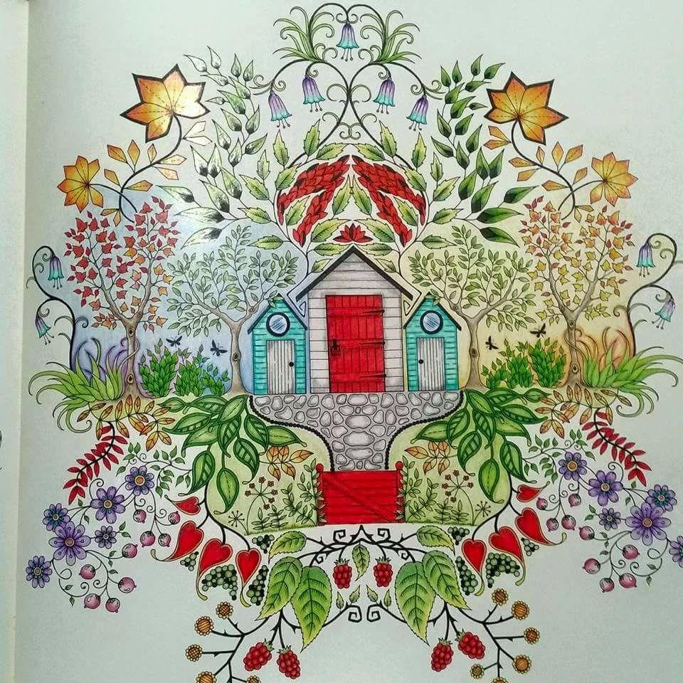 The secret garden coloring book barnes and noble - Secret Garden Casinha Jardim Secreto Johanna Basford Secret Garden Coloring Bookadult