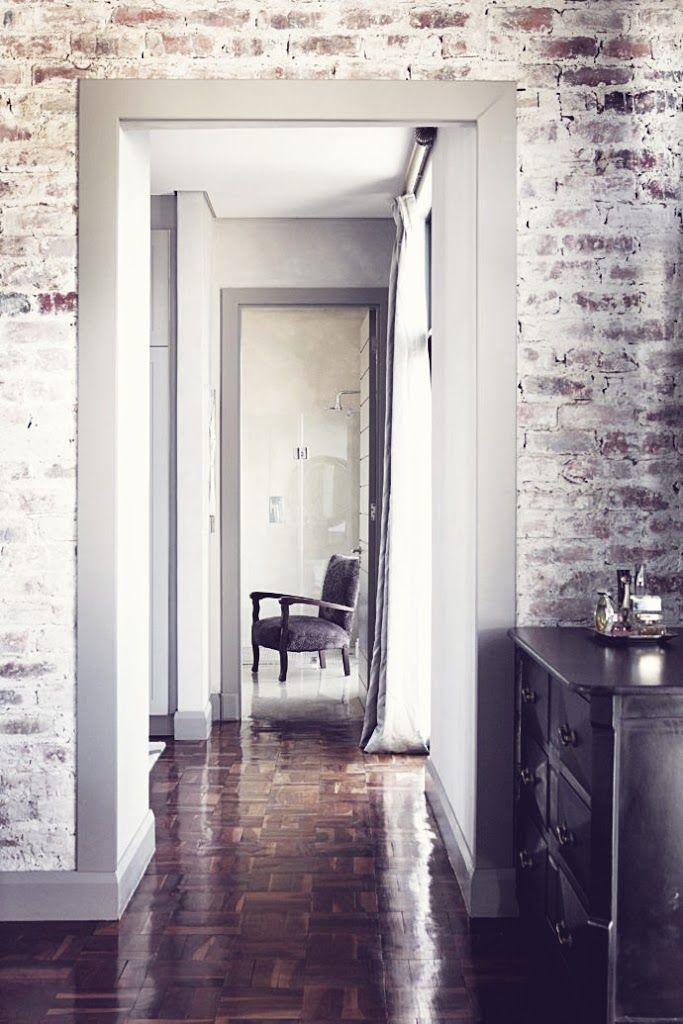 dining room brick wall redo Interiors Sleek Johannesburg Home