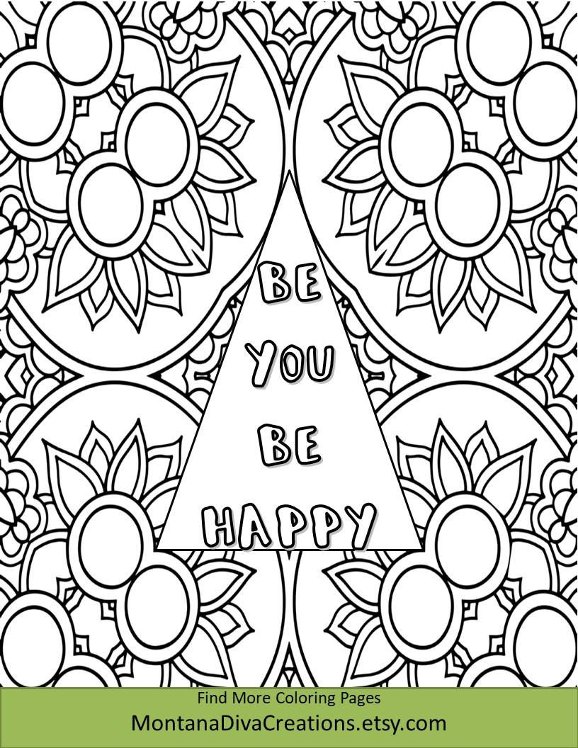 Pretty Pattern Coloring Sheet Printable Coloring Page   Color me ...