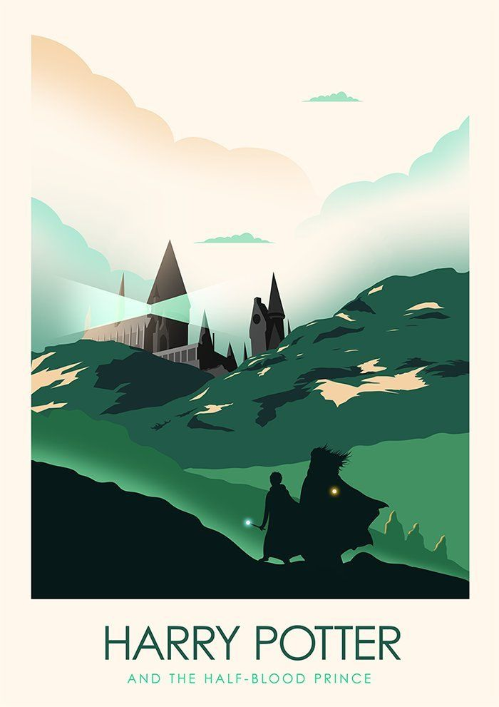 Minimalist Movie Poster Posteritty Minimal Potter Fan Art HALF-BLOOD PRINCE