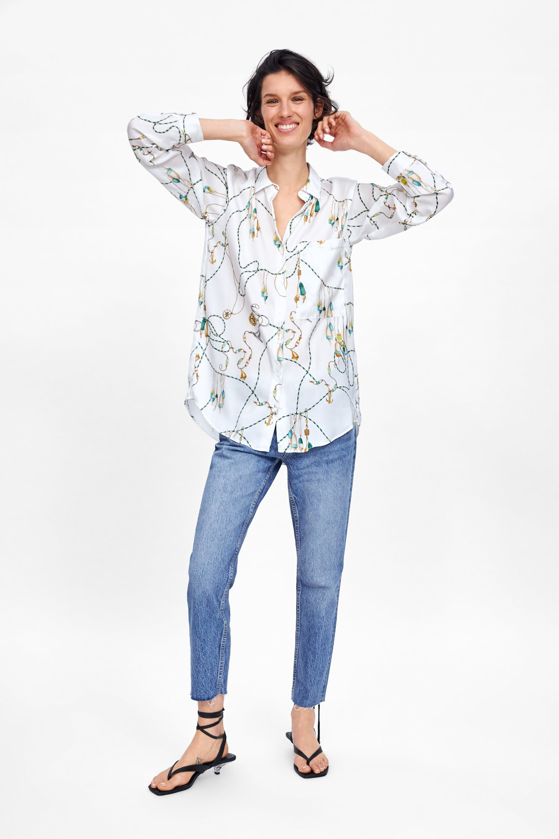b30c6dcdff1dbc PRINTED SHIRT - NEW IN-WOMAN