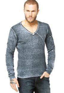 Suéter Calvin Klein Jeans Mix Cinza