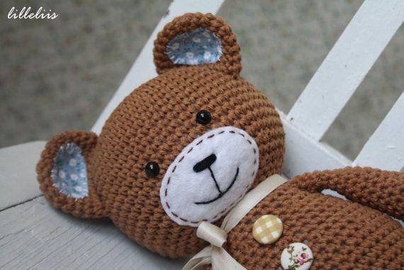 PATTERN - Smugly-bear - crochet amigurumi pattern, PDF (English ...