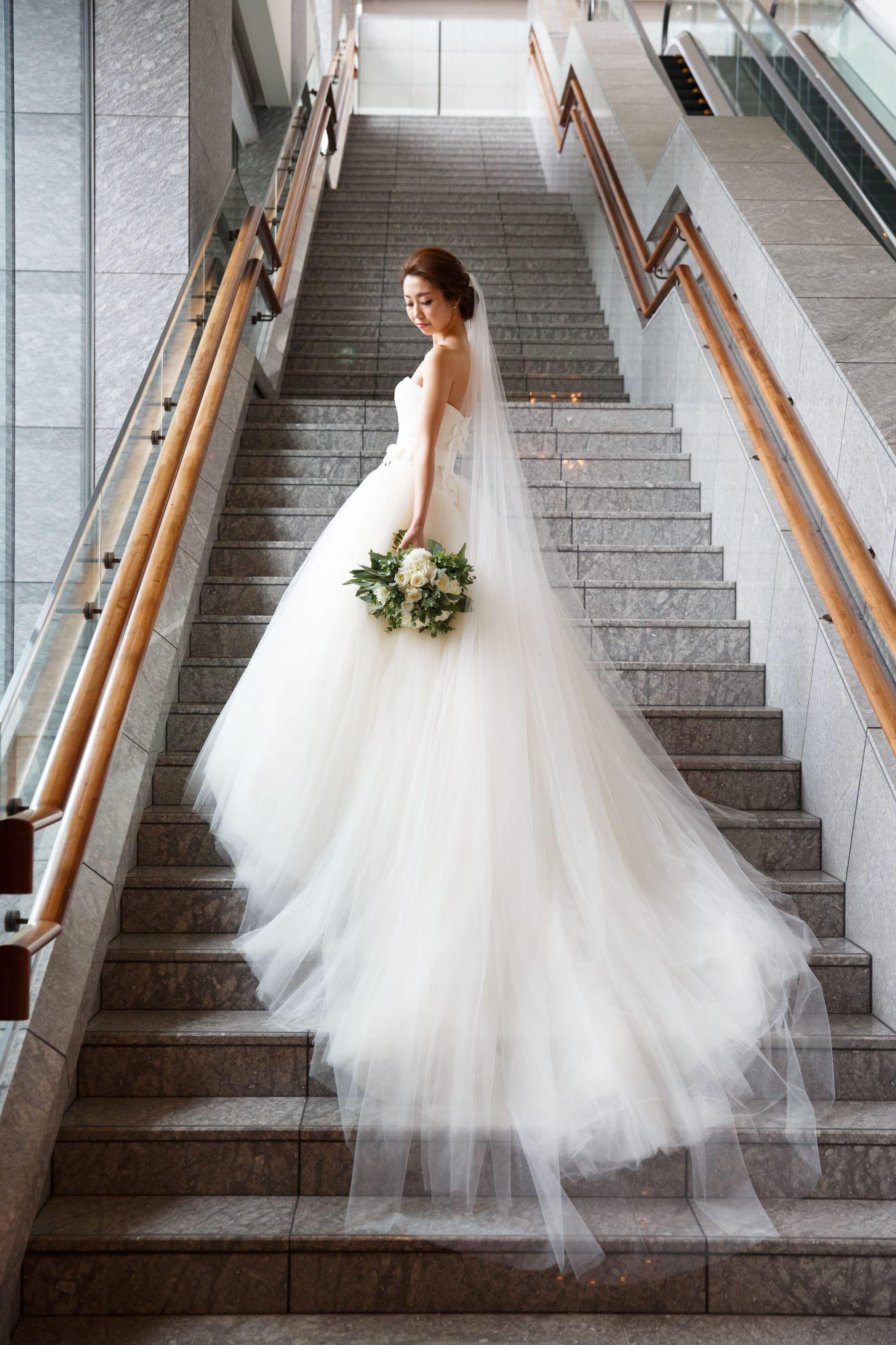 上質のおもてなしと感謝の心遣いが詰まった パレスホテル東京 ウエディング Luxurious Palace Hotel Tokyo Wedding ウェディングドレス ヴェラウォン 花嫁 ウエディング