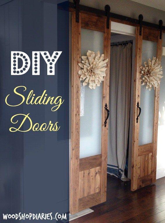 Dress Up The Mess Sliding Doors To Laundry Room Hometalk Diy