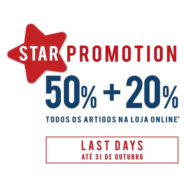 Last Days – Até 31 de Outubro Star Promotion 50% + 20% Todos os Artigos na Loja Online (Exceto Nova Coleção AW15) 20% de desconto adicional aos 50% já em vigor Loja Online @ www.lionofporches.com