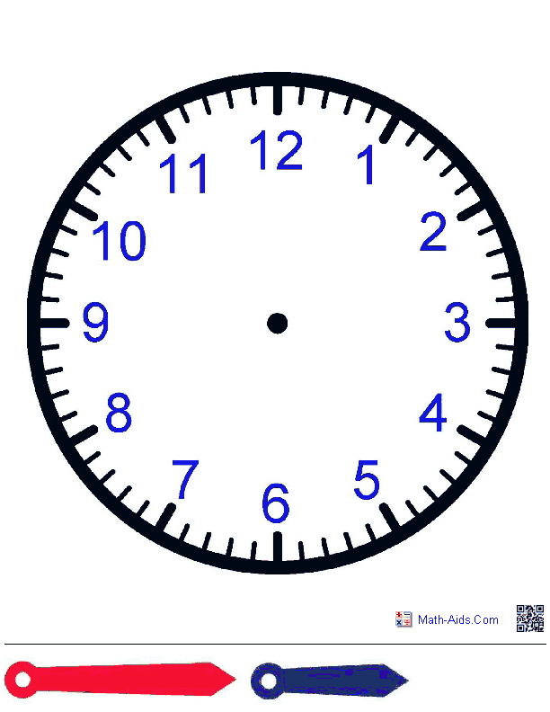 Clock Face With Hands Worksheets Great To Laminate And Have