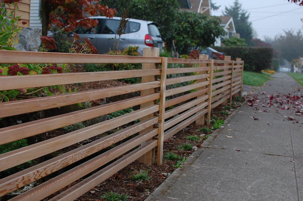 Image Result For Slatted Cedar Fence Portland Oregon