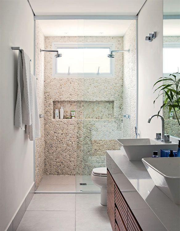 Box para banheiro com porta do ch o ao teto sweet home - Piso pequeno moderno ...