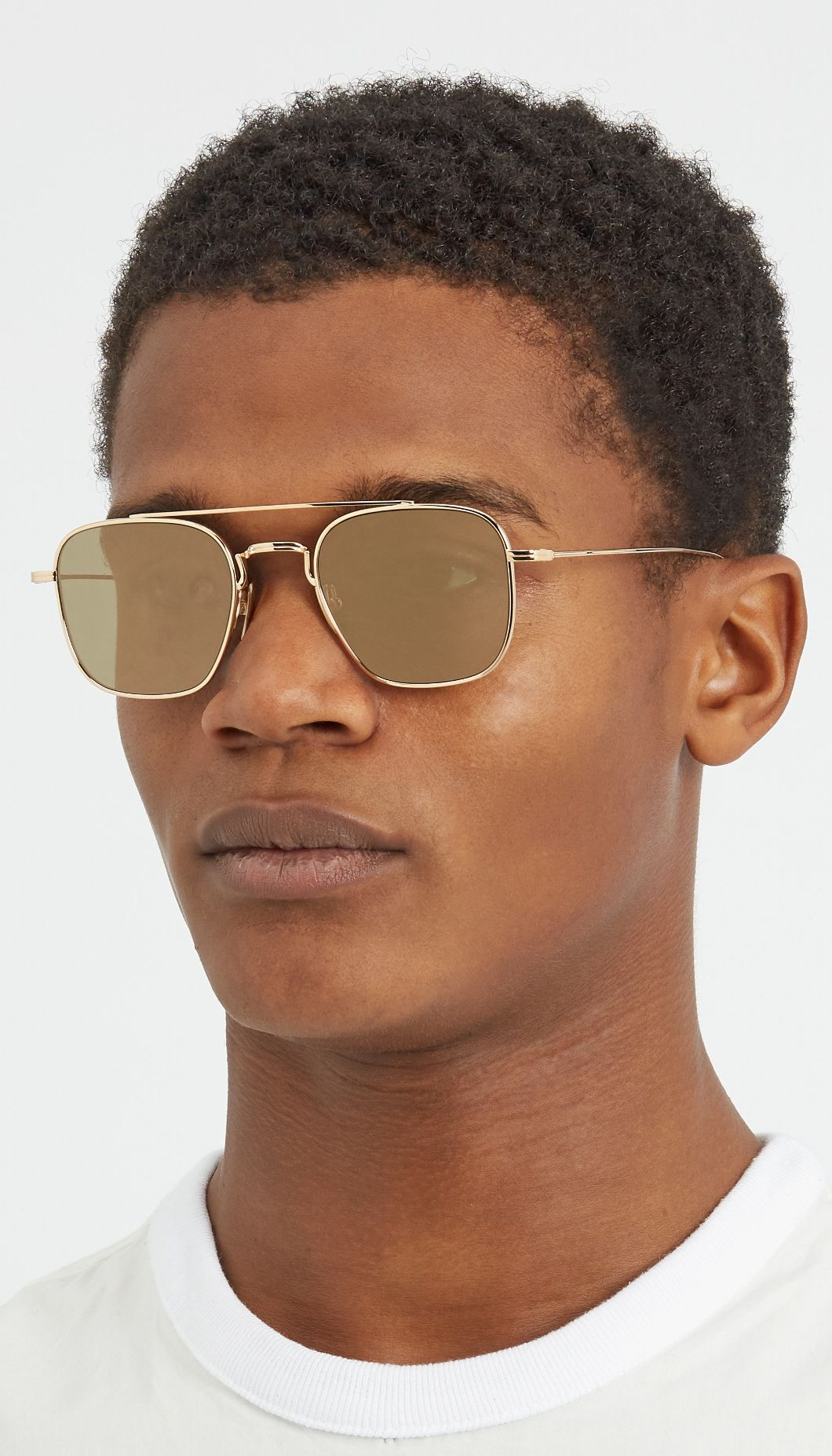 e82d91273b30 Thom Browne s gold-tone mirrored sunglasses will lend a smart finish to  your daytime appearance