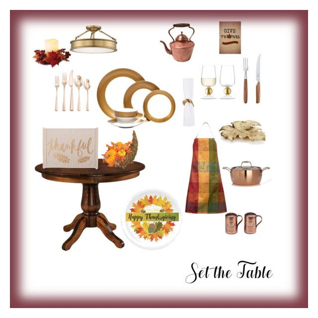 """""""Set the table"""" by michelechambers ❤ liked on Polyvore featuring interior, interiors, interior design, home, home decor, interior decorating, LSA International, Lenox, Mikasa and DutchCrafters"""