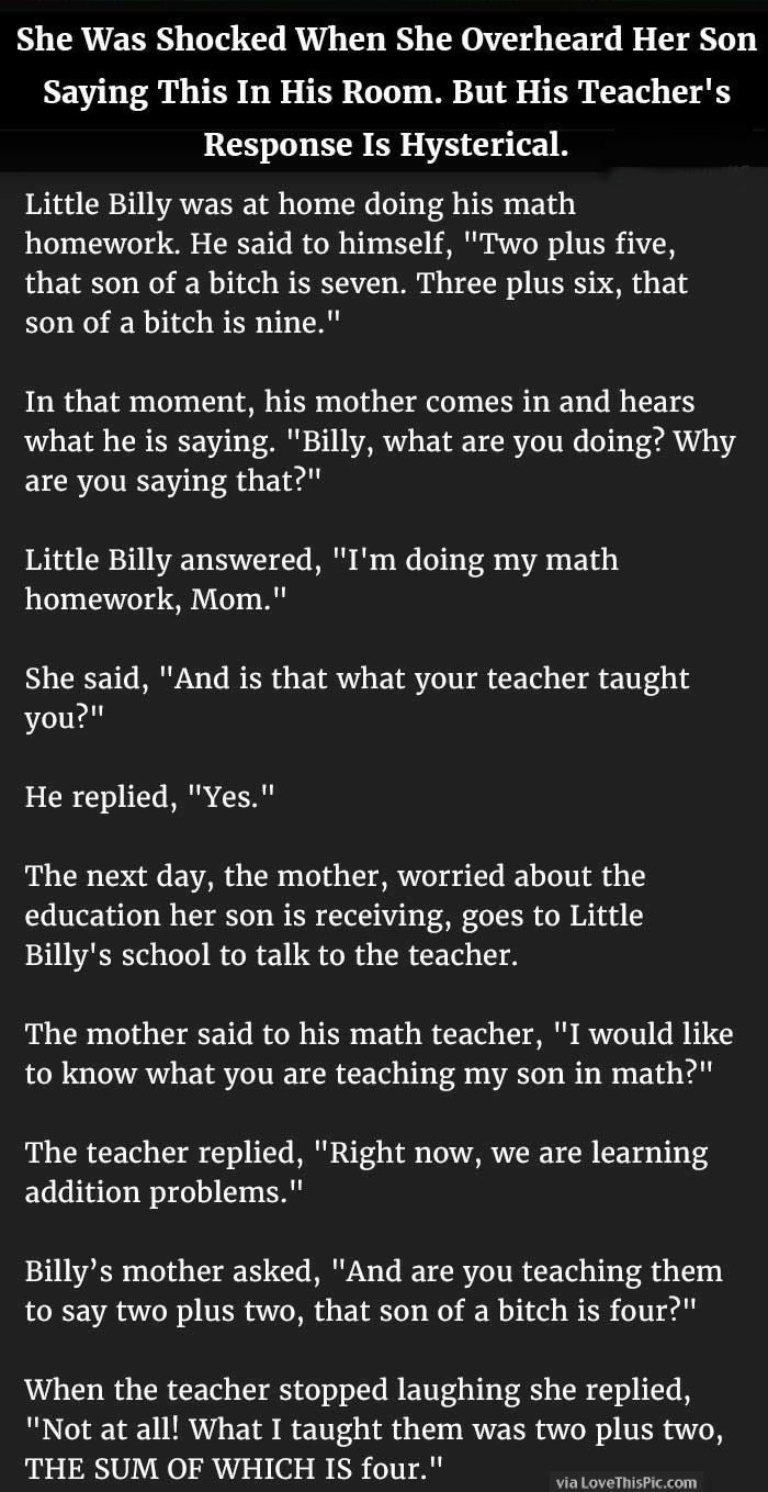 Latest Funny Kids She Was Shocked When She Overheard Her Son Saying This In His Room But His Teacher's Response Is Hysterical She Was Shocked When She Overheard Her Son Saying This In His Room But His Teacher's Response Is Hysterical 5
