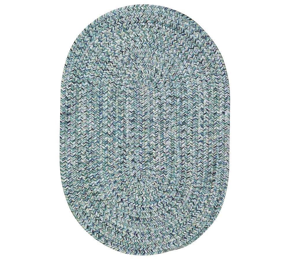 Ridley Oval Synthetic Indoor Outdoor Braided Rug Blue Area Rugs Round Area Rugs Blue Area Rugs