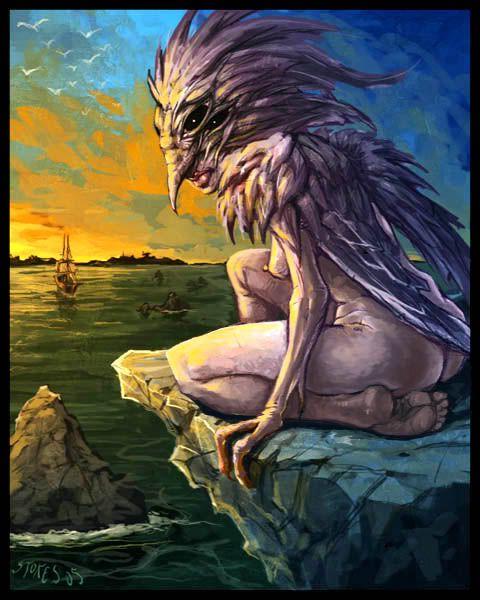 Greek Siren (Σειρήν dangerous yet beautiful creatures, who