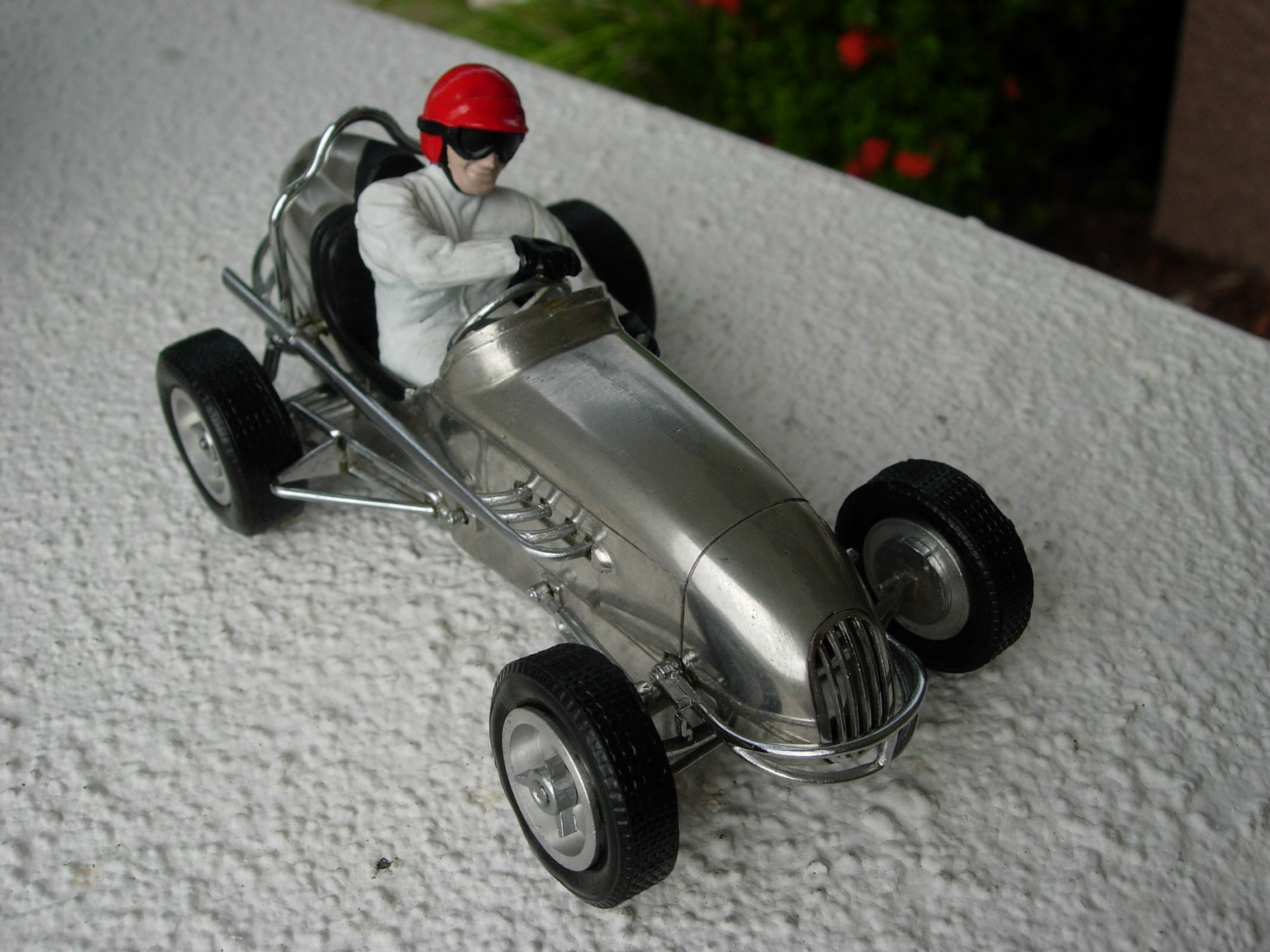Midget antique tin race cars