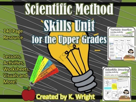 Inquiry and Scientific Method Process Skills Unit from Kate\u0027s - scientific method worksheet