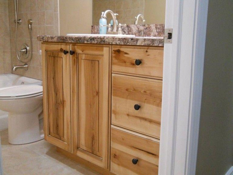 34++ Knotty pine bathroom vanity cabinets model