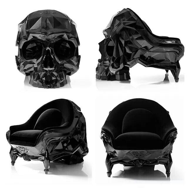 Wauw gaaf skull stoel