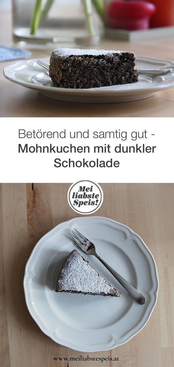 Mohnkuchen mit dunkler Schokolade: Betörend gut - Mei liabste Speis #pumpkinseedsrecipebaked