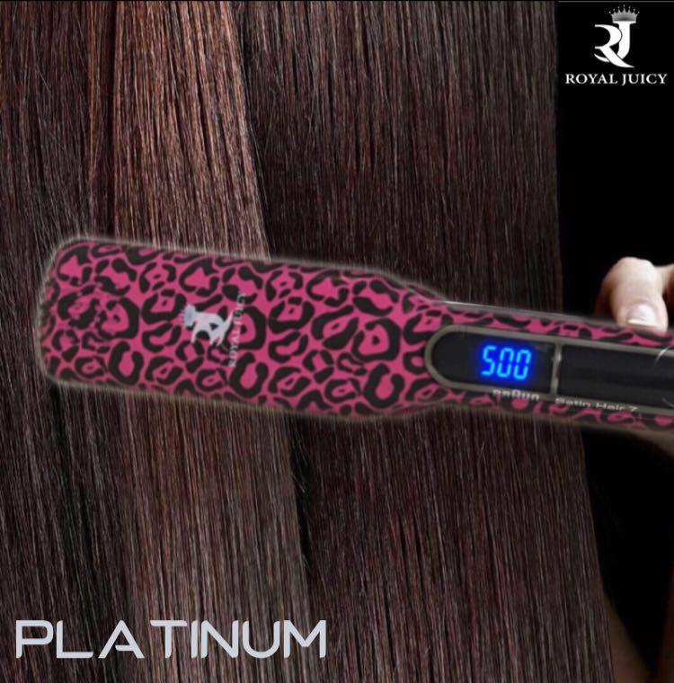 Turbo 500 رويال جوسي تيربو 500 تعد مكواة رويال جوسي للتمليس بصفيحتها ذات الإنش ونصف أداة الشعر المثالية لجعل شعرك ناعما ومستقيم Platinum Beauty Flat Iron