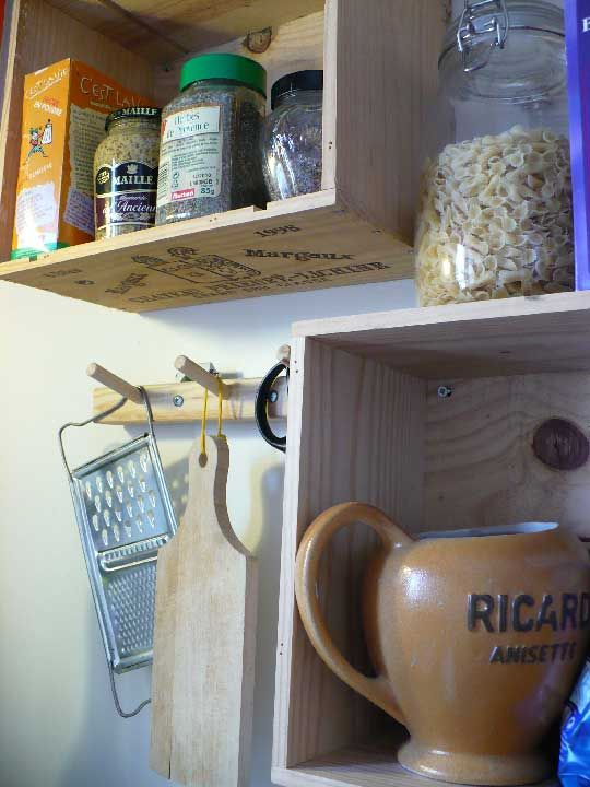 Recycled Wine Box Kitchen Cabinets Alkohol