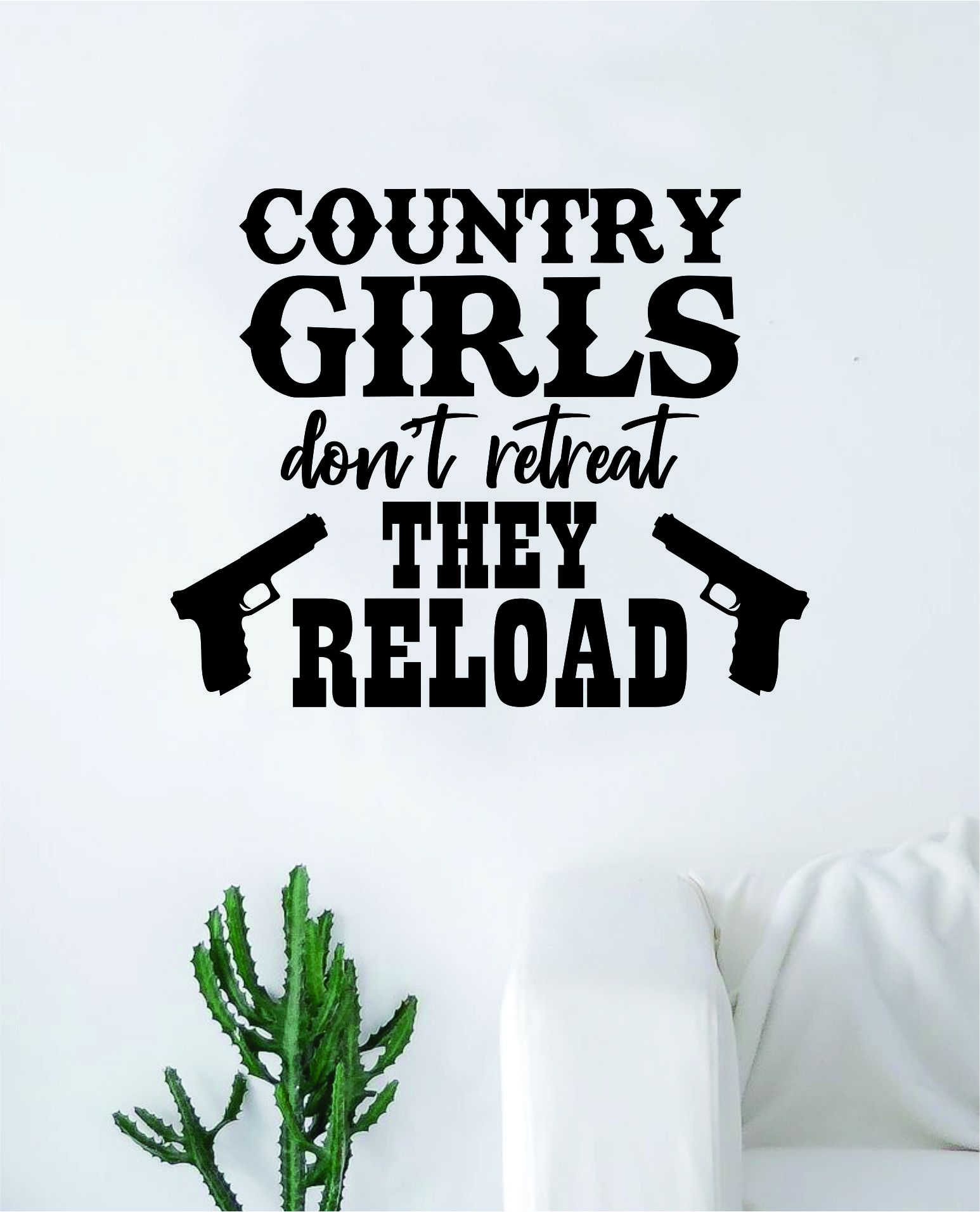 Photo of Country Girls Wall Decal Decor Art Sticker Vinyl Room Bedroom Teen Kids Nursery Cowboy Cowgirl Southern America – gold
