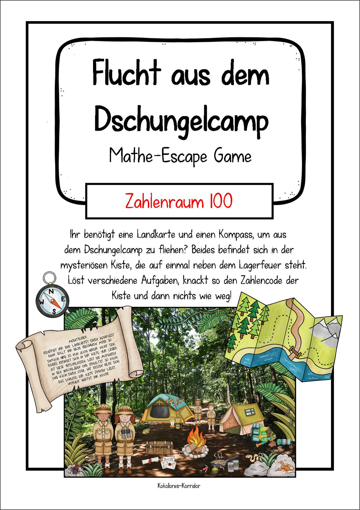 Flucht Aus Dem Dschungelcamp Mathe Escape Game Im