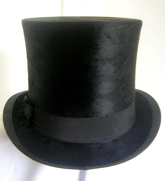 81713af2a42 Antique Dunn   Co Silk Top Hat  582  BoSpoke on Etsy