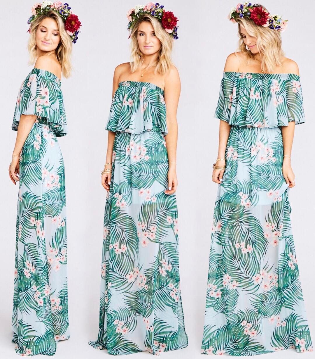 You can wear our Hacienda Maxi over your shoulders or as a strapless ...