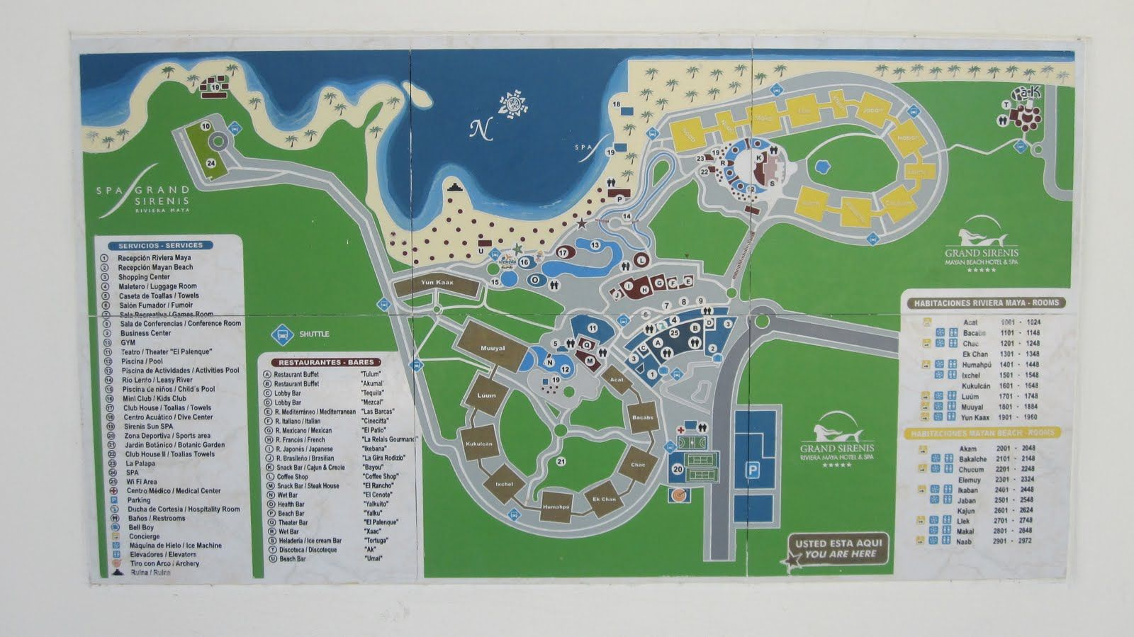 Grand Sirenis Riviera Maya Resort Map